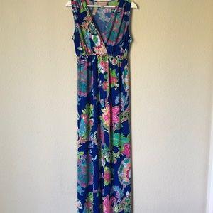 Gorgeous Colorful Philosophy Maxi Dress sz L EUC